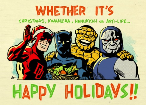 marvel happy holidays