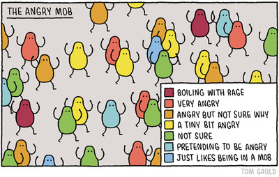 angry mob - tom gauld